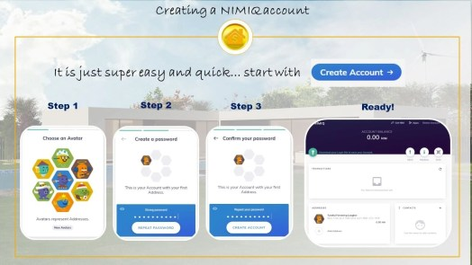 create Nimiq account