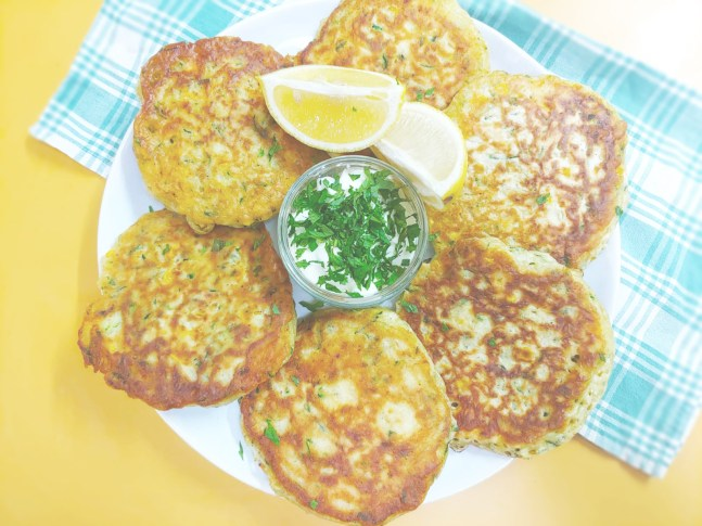 Corn and Zucchini fritter