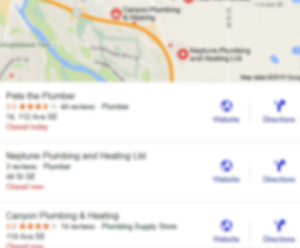 3 pack listing on Google for local businesses