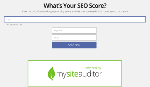 Free website audit tool!
