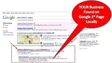 Calgary Small Business on Google 1st page
