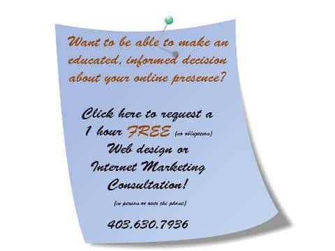 Free internet marketing advise Calgary