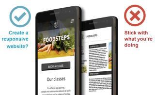 Mobile responsive website