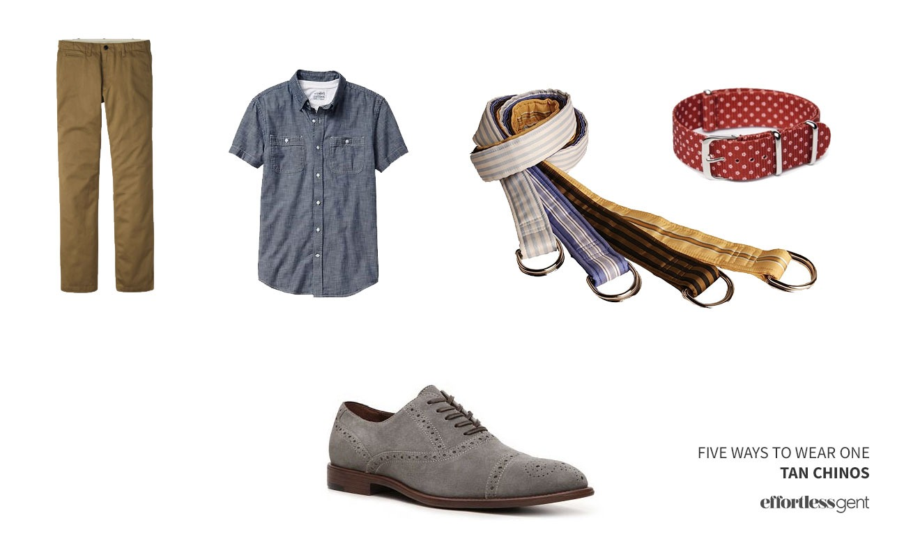 Five Ways To Wear One: Tan (Khaki) Chinos · Effortless Gent