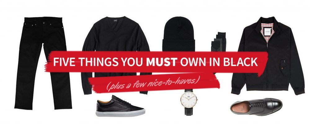 five things you must own in black