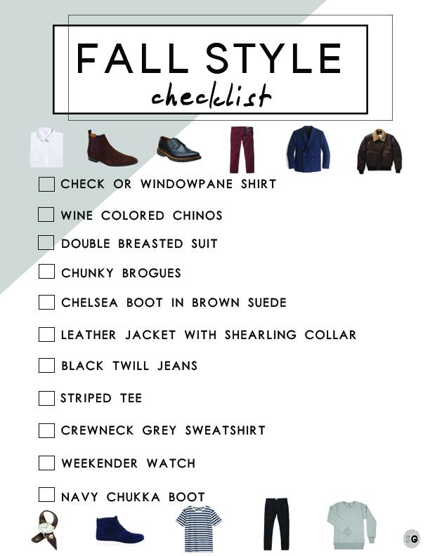 EG fall style shopping list