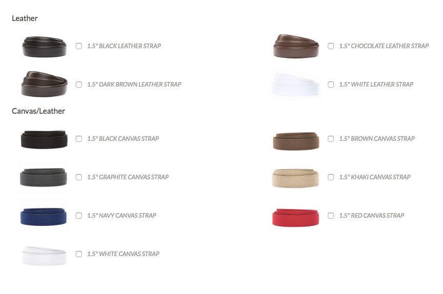 Anson Belt & Buckle leather belts for men