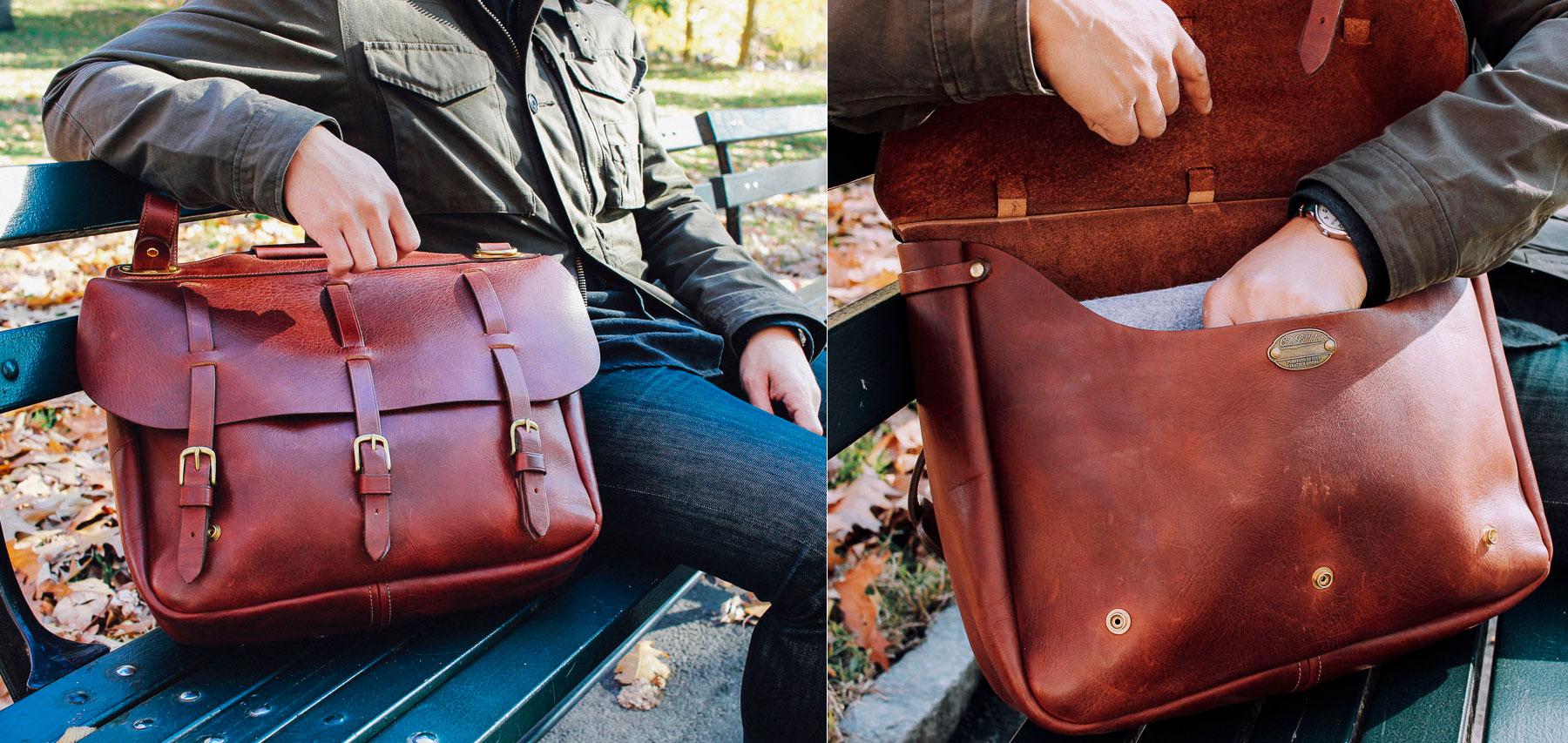 colonel littleton saddlebag briefcase american buffalo