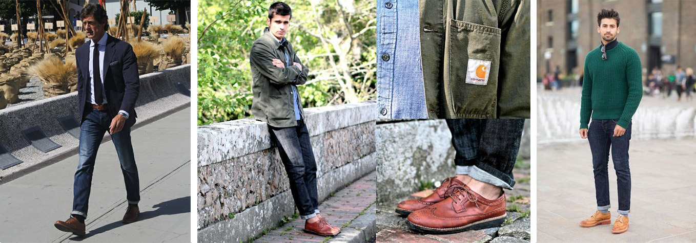 brogues with jeans