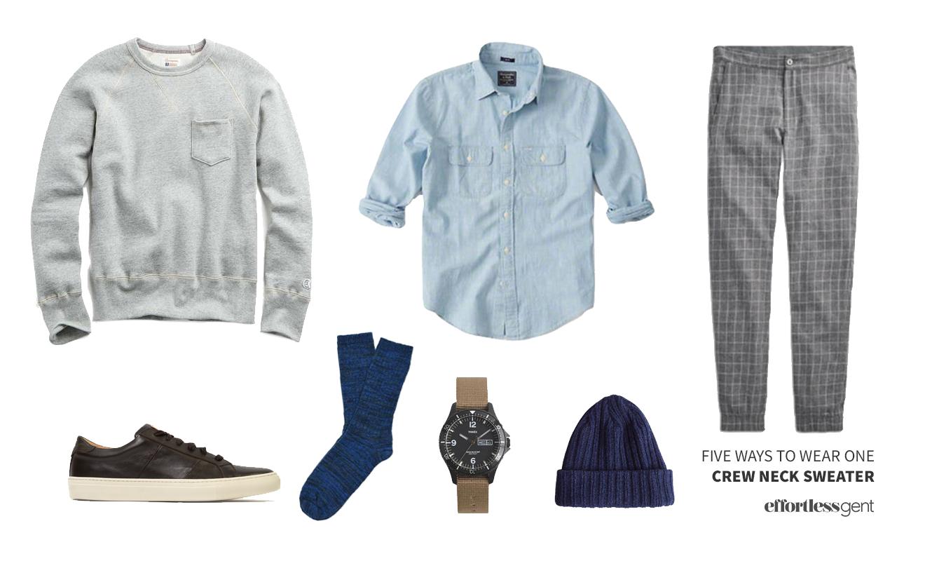 Five Ways to Wear One: Crewneck Sweatshirt