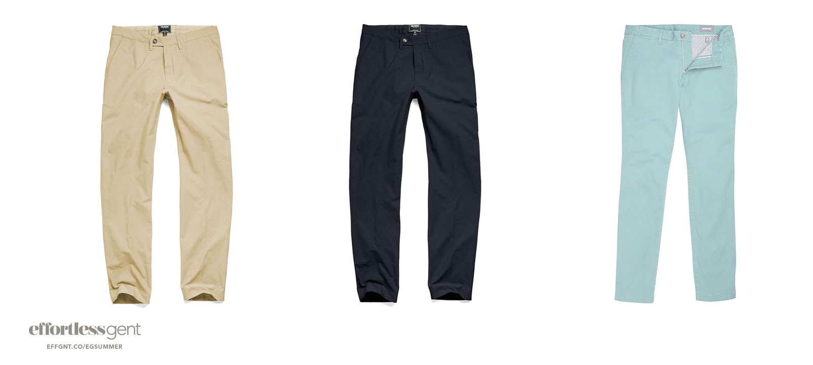 chinos - summer clothes for men - effortless gent