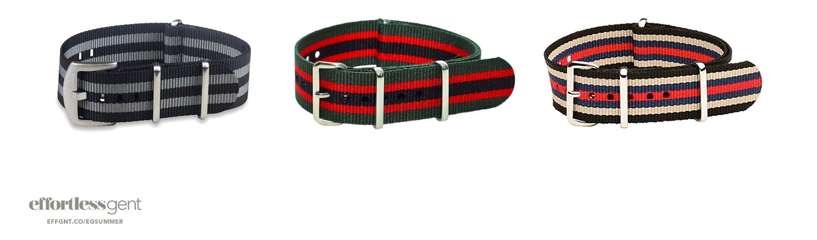 nato straps - summer clothes for men - effortless gent