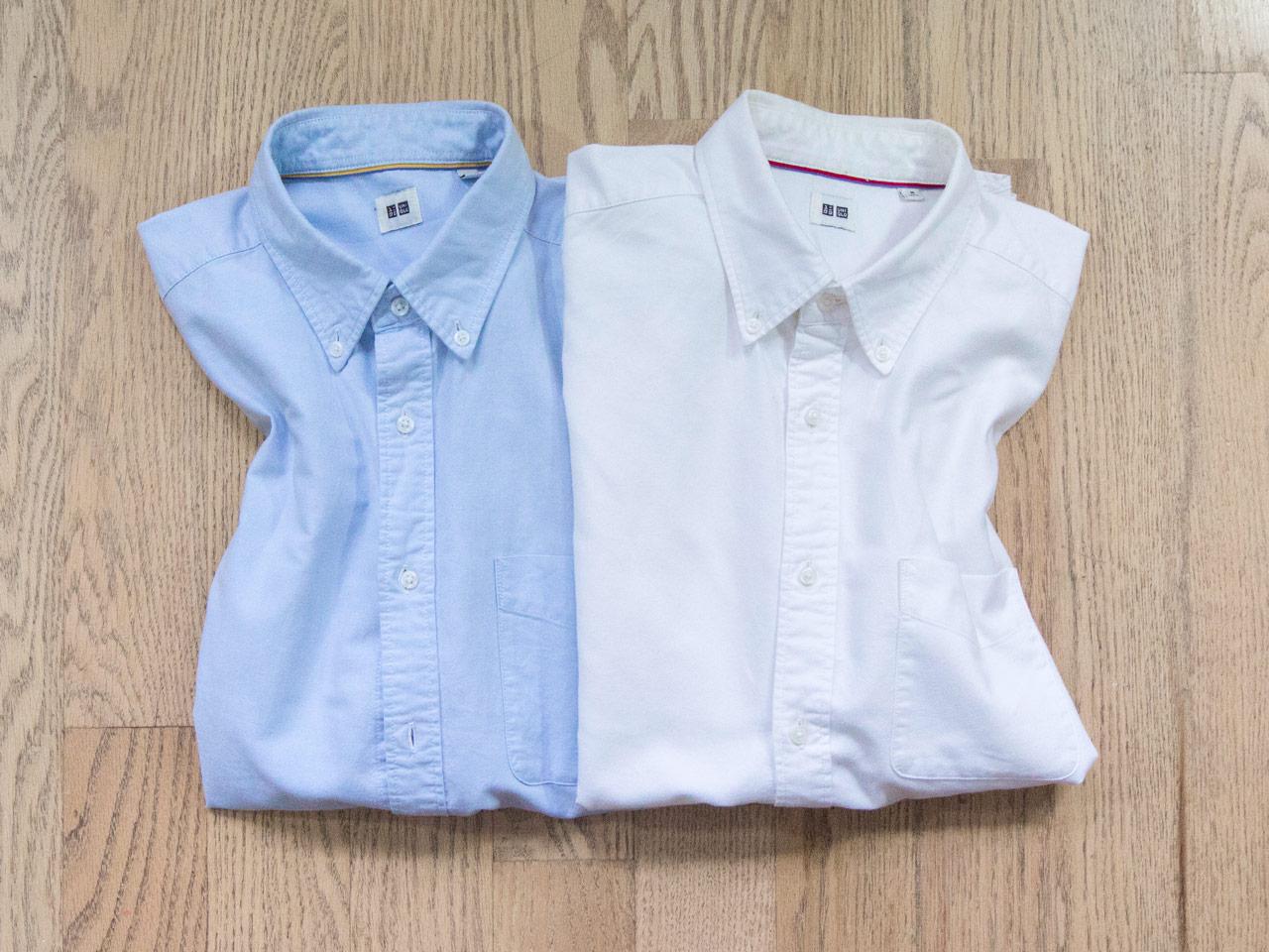 effortless essentials minimalist wardrobe - shirts