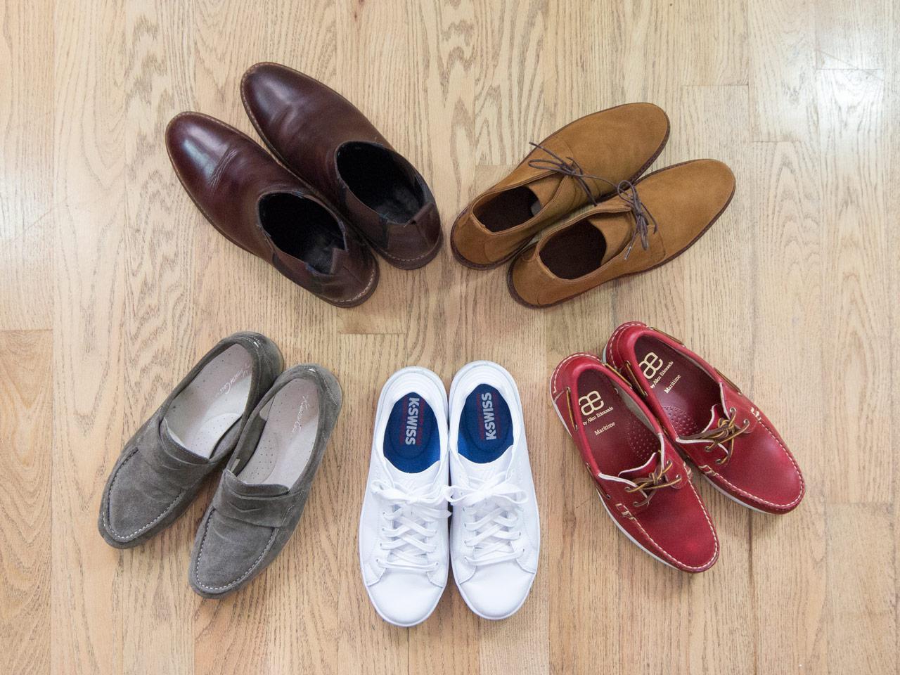 effortless essentials minimalist wardrobe - casual shoes