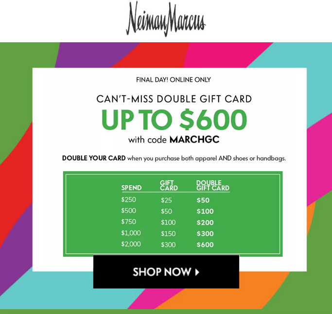 Neiman Marcus Gift Card Exclusions