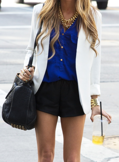 10 Ways to Wear a White Blazer Bright Colors