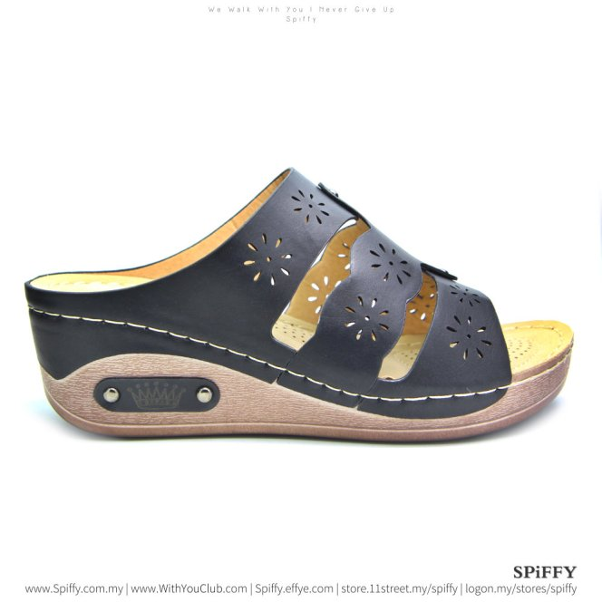 fashion-modern-malaysia-kuala-lumpur-shoes-sandals-%e4%bc%91%e9%97%b2%e9%9e%8b-spiffy-brand-ct3407010-black-colour-shoe-ladies-lady-leather-high-heels-shoes-comfort-wedges-sandal-%e5%a8%83%e5%a8%83