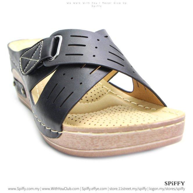 fashion-modern-malaysia-kuala-lumpur-shoes-sandals-%e4%bc%91%e9%97%b2%e9%9e%8b-spiffy-brand-ct3408010-black-colour-shoe-ladies-lady-leather-high-heels-shoes-comfort-wedges-sandal-%e5%a8%83%e5%a8%83