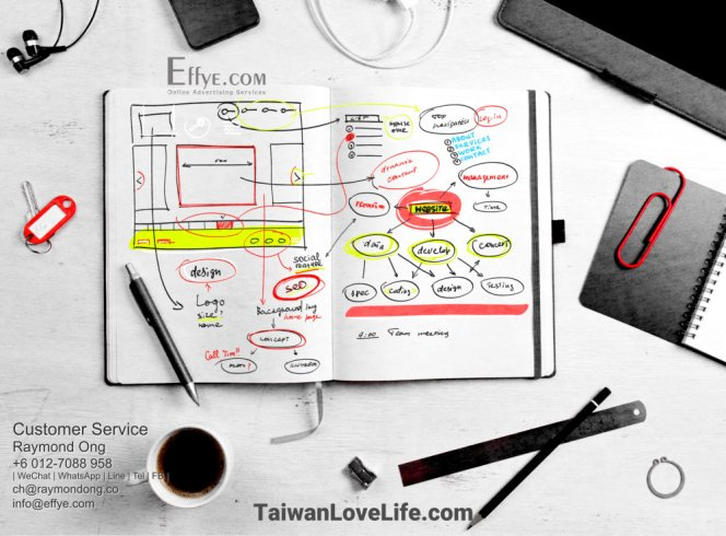 Raymond Ong Effye Media Taiwan Website Design Online Advertising Web Development Education Webpage Facebook eCommerce Management Photo Shooting 台湾 台灣 A04