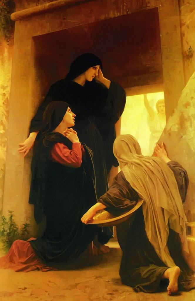 基督復活的信仰意義 唐崇榮牧師 路加福音 耶稣基督 复活节 William Adolphe Bouguereau, Le Saintes Femmes au Tombeau The Holy Women at the Tomb 1890 A01.jpg