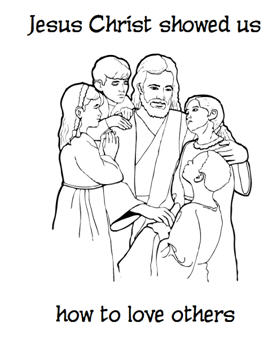Jesus Christ Coloring Images Sunday School Images for You to Fill with Colour A03