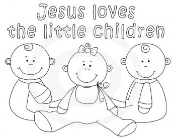 Jesus Christ Coloring Images Sunday School Images for You to Fill with Colour A05