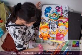 Malaysia Kota Damansara Petaling Jaya Kuala Lumpur Selangor Chinese New Year Charity Coloring Contest World Art House 世界艺术画室 and 1 Utama Shopping JinYeYe Effye Media C088
