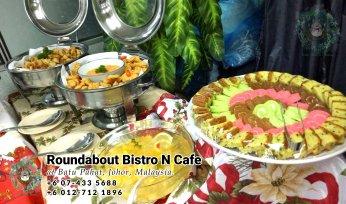 峇株巴辖自助餐龙猫特色中西餐厅 复古式建筑咖啡厅 马来西亚柔佛峇株巴辖地标交通圈小酒馆 公司聚会 Batu Pahat Roudabout Bistro N Cafe PC01-18