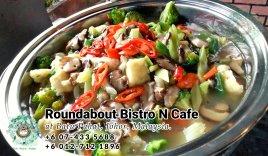 峇株巴辖自助餐龙猫特色中西餐厅 复古式建筑咖啡厅 马来西亚柔佛峇株巴辖地标交通圈小酒馆 公司聚会 Batu Pahat Roudabout Bistro N Cafe PC01-38