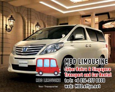 MBD Limousine Johor Bahru Transport and Car Rental Malaysia Transport and Car Rental Singapore Transport and Car Rental Transport between Malaysia and Singapore PA01-01