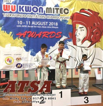 Batu Pahat Sports Ricky Toh Advance Taekwondo Sport Academy ATSA Education Martial Art Self Defence Fitness Poomdae Sparring Kyorugi Batu Pahat Johor Malaysia A04-03