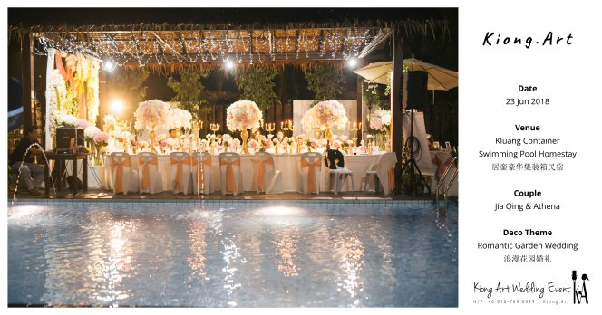 Kiong Art Wedding Event Kuala Lumpur Malaysia Wedding Decoration One-stop Wedding Planning Wedding Theme Romantic Garden Wedding Kluang Container Swimming Pool Homestay A05-A00-10