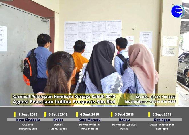 Malaysia Karnival Pekerjaan Kembara Kerjaya Sabah 2018 Agensi Pekerjaan Unilink Prospects Sdn Bhd 专业合法人力资源介绍所 A05