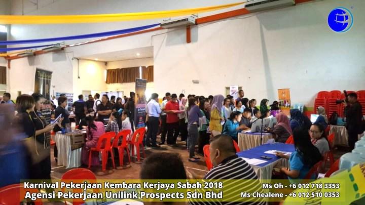 Malaysia Karnival Pekerjaan Kembara Kerjaya Sabah 2018 Agensi Pekerjaan Unilink Prospects Sdn Bhd 专业合法人力资源介绍所 A06