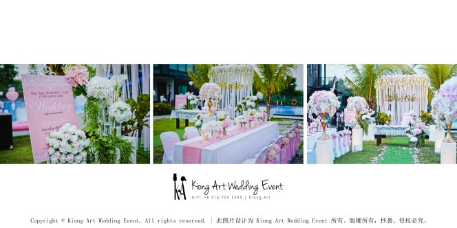 Kiong Art Wedding Event Kuala Lumpur Malaysia Wedding Decoration One-stop Wedding Planning Warm Outdoor Romantic Style Theme Kluang Container Swimming Pool Homestay A07-B00-02