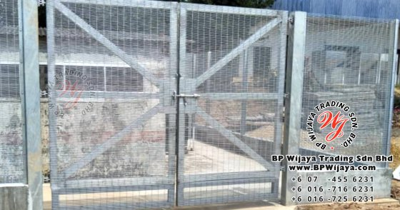 bp wijaya trading sdn bhd security fence project yong peng johor malaysia hotdip galvanized anti climb fence and hotdip anti climb fence gate a000