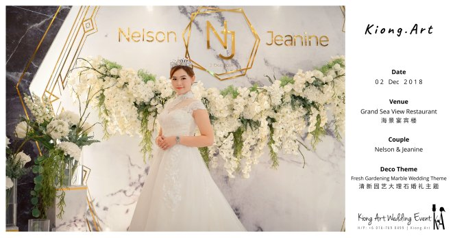 Malaysia Kuala Lumpur Wedding Event Kiong Art Wedding Deco Decoration One-stop Wedding Planning of Nelson and Jeanine Wedding at Grand Sea View Restaurant A11-A00-03