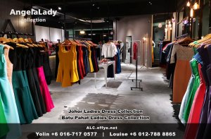 Johor Batu Pahat Ladies Dress Boutique Angela Lady Collection Dinner Dress Evening Gown Maxi Dress Evening Dress Gown Boutique Fashion Lady Apparel Clothes Jeans Skirt Pants Malaysia A01-016