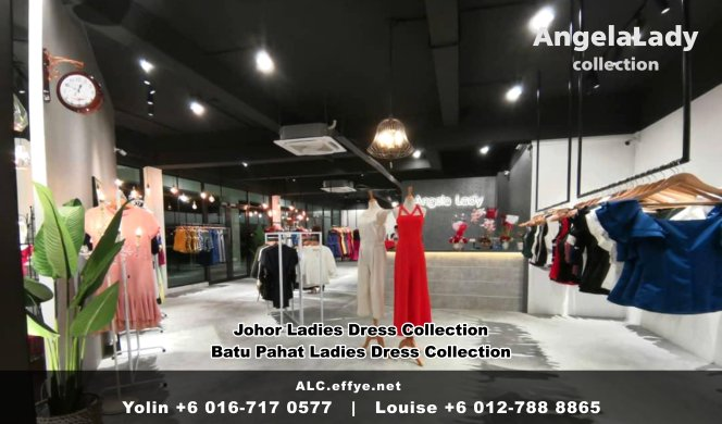 Johor Batu Pahat Ladies Dress Boutique Angela Lady Collection Dinner Dress Evening Gown Maxi Dress Evening Dress Gown Boutique Fashion Lady Apparel Clothes Jeans Skirt Pants Malaysia A01-006