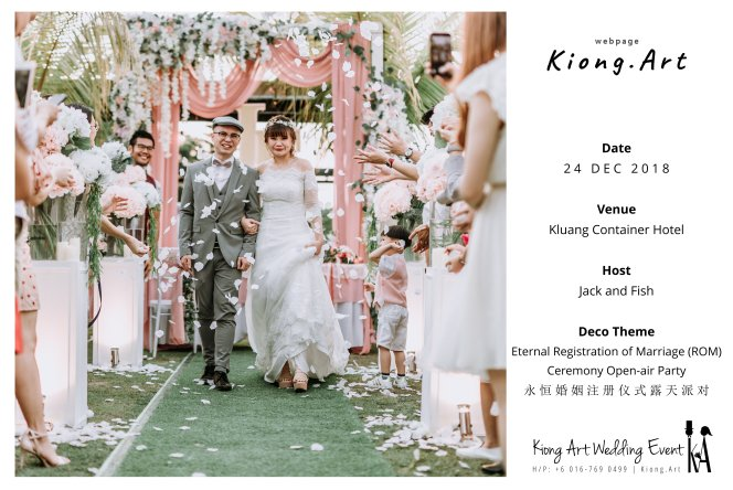 Malaysia Kuala Lumpur Wedding Decoration Kiong Art Wedding Deco Eternal Registration of Marriage Ceremony Open-air Party of Jack and Fish ROM at Kluang Container Hotel A14-A00-08