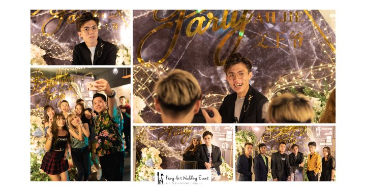 Online Star Birthday Party Ah Jie 文王爷 网红 at Our Place Cafe Puchong Malaysia Kuala Lumpur Wedding Decoration Kiong Art Wedding Deco One-stop Wedding Planning Selangor A13-A00-00
