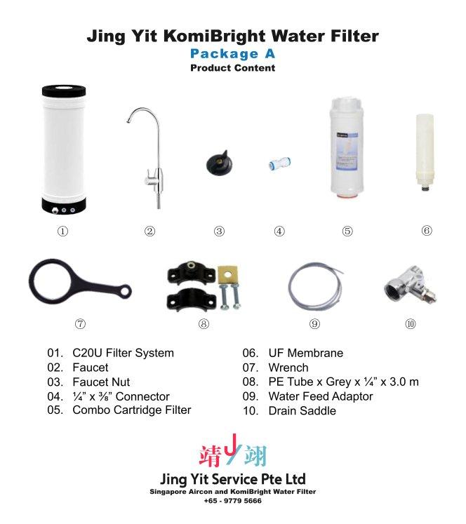 Jing Yit KomiBright Water Filter Singapore Reverse Osmosis Water Purifier Singapore Water Filter Malaysia Komi Bright Water Filter Package A A02