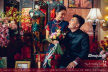 Kuala Lumpur Wedding Deco Decoration Kiong Art Wedding Deco Old Shanghai Style Wedding 旧上海风情婚礼 Steven and Tze Hui at Golden Dragonboat Restaurant 金龙船鱼翅海鲜酒家 Malaysia A16-A01-029