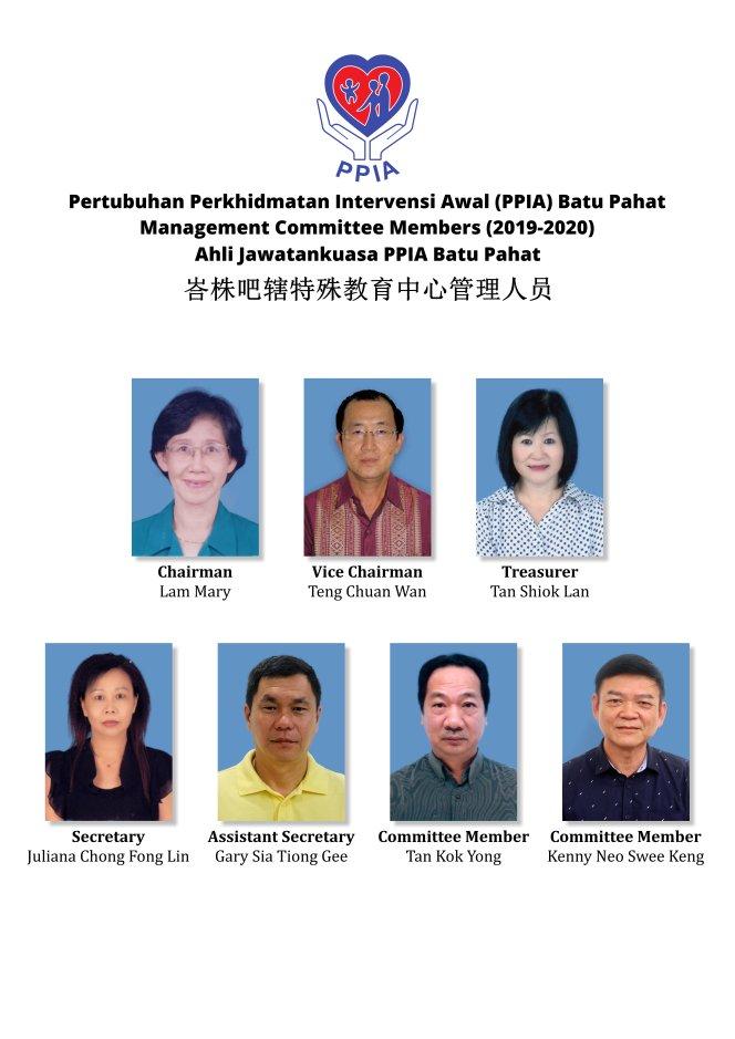PPIA Batu Pahat Pertubuhan Perkhidmatan Intervensi Awal Management Committee Members Making a Difference Transforming Lives A02