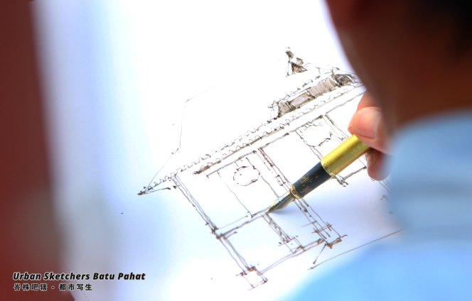 Urban Sketchers Batu Pahat Johor Malaysia Art Drawing Sketching 马来西亚 柔佛 峇株吧辖都市写生 艺术 画画 A003