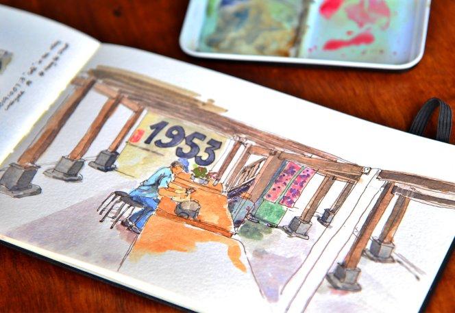 Urban Sketchers Batu Pahat Johor Malaysia Art Drawing Sketching 马来西亚 柔佛 峇株吧辖都市写生 艺术 画画 A008