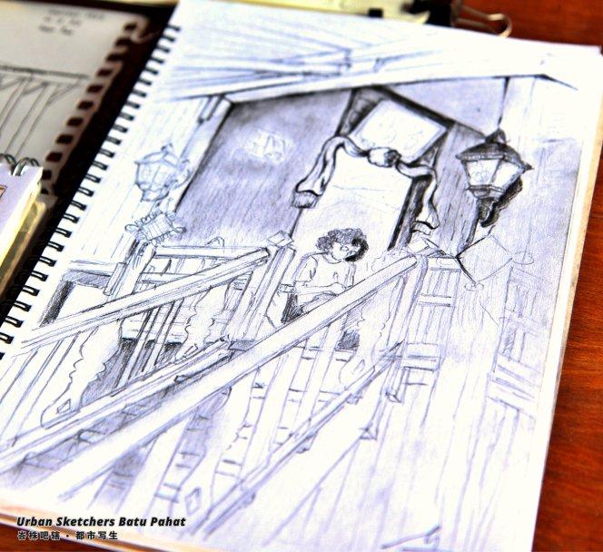 Urban Sketchers Batu Pahat Johor Malaysia Art Drawing Sketching 马来西亚 柔佛 峇株吧辖都市写生 艺术 画画 A021