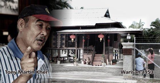 Tony Martin Kher founder of Warisan 1953 Museum at Batu Pahat Johor Malaysia Heritage 1953 Artist Joey Kher A00