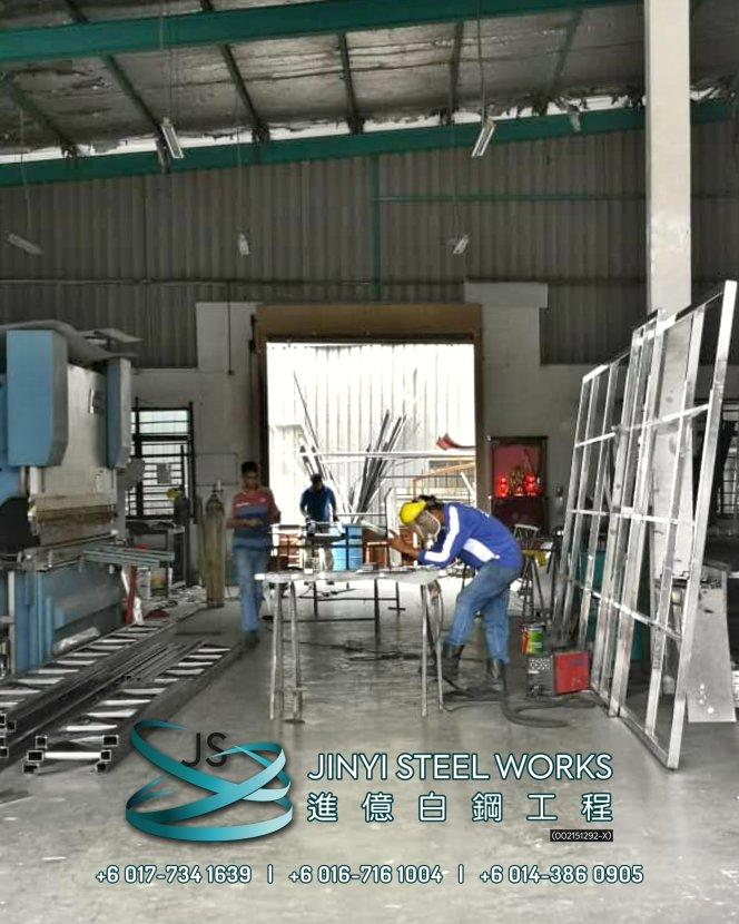 Jinyi Steel Works Pengilang Produk Besi dan Keluli Tahan Karat Menyesuaikan dan Memasangnya Untuk Anda Johor Melaka Negeri Sembilan Kuala Lumpur Selangor Pahang Batu Pahat Stainless Steel B03