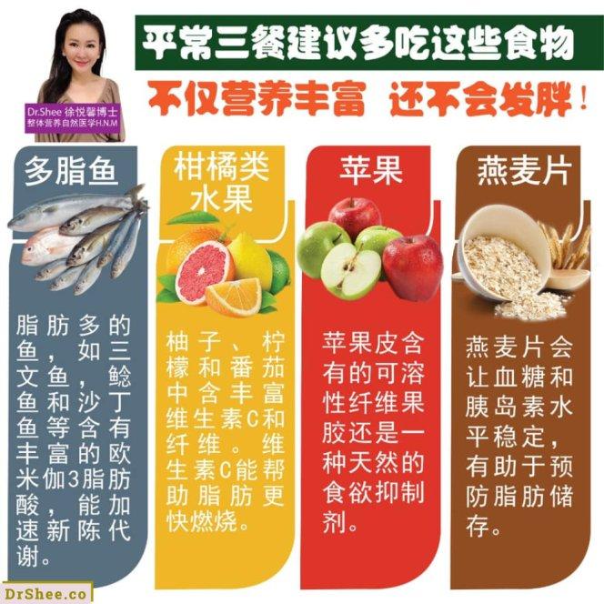 只要生活中常吃这八种食材 怎样都不会发胖 Dr Shee 吃一点就胖 这可能是你所选择的食材错了 Dr Shee 徐悦馨博士 整体营养自然医学 A03